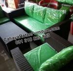 Sofa Rotan Ruang Tamu
